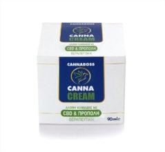 CannaCream Φυσική Κρέμα με Κανναβιδιόλη CBD & Πρόπολη (Αλοιφή) – 90ml 400mg CBD