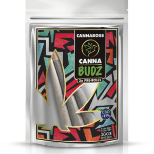 CannaBudz 3 Pre-Rolls < 42% CBD