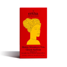 Ertha CBD Herbal Infusion Αφέψημα με Κάνναβη, Τσάι του Βουνού και Κρόκο Κοζάνης